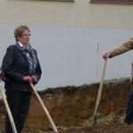 Erster Spatenstich Senioren WG Haiderbach